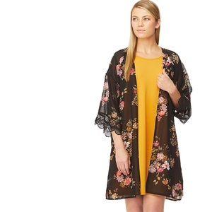 Swing Dress & Printed Kimono Set